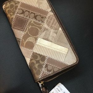 Coach Khaki Pattern-work Wallet NWT